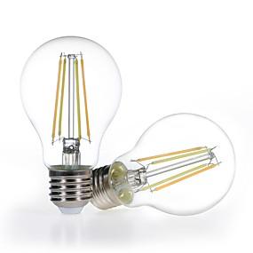 Χαμηλού Κόστους Λαμπτήρες LED με νήμα πυράκτωσης-2πλ. Λαμπτήρας ρύθμισης ρυθμιζόμενου χρώματος a19 4.5w καθαρό γυαλί 120v ζεστό λευκό έως φως της ημέρας 2700-5000k δουλειά με alexa (echo plugs) δεν χρειάζεται κόμβος