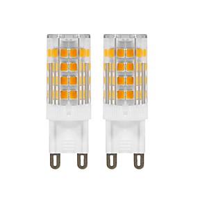 abordables Luces LED de Doble Pin-2pcs 5 W Luces LED de Doble Pin 420 lm G9 T 52 Cuentas LED SMD 2835 Decorativa Blanco Cálido 220 V 110 V