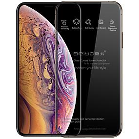 baratos Protetores de Tela para iPhone XR-Beiyo Protetor de Tela para Apple iPhone XS / iPhone XR / iPhone XS Max Vidro Temperado 1 Pça. Protetor de Tela Frontal / Protetor de Tela Integral Alta Definição (HD) / Dureza 9H / Borda Arredondada