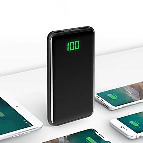 halpa Virtapankit-20000 mAh Käyttötarkoitus Power Bank Ulkoinen akku 5 V Käyttötarkoitus 2.1 A Käyttötarkoitus Akkulaturi Automaattinen virtasäätö LCD