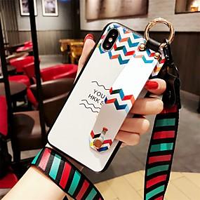 olcso iPhone tokok-Case Kompatibilitás Apple iPhone 8 / iPhone XS Kártyatartó Fekete tok Vonalak / hullámok Puha TPU mert iPhone XS / iPhone XR / iPhone XS Max