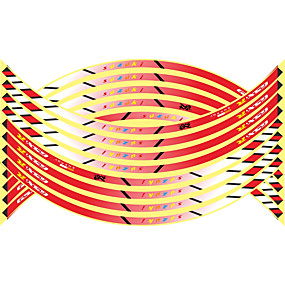 billige Til Bilen & Motorcyklen-16 stk nye 17/18/19 tommer motorcykel reflekterende hjul hub klistermærker auto decors hjul klistermærker på bil styling