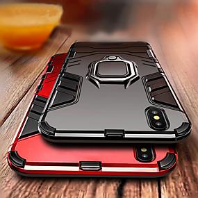 ราคาถูก เคสสำหรับ iPhone-Case สำหรับ Apple iPhone XS / iPhone XR / iPhone XS Max Shockproof / ที่แขวนห่วง ปกหลัง เกราะ Hard พีซี สำหรับ iPhone XS / iPhone XR / iPhone XS Max