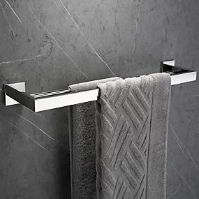 cheap Bathroom Gadgets-Towel Bar New Design / Creative Contemporary / Modern Stainless Steel / Stainless steel / Metal 1pc - Bathroom 1-Towel Bar Wall Mounted