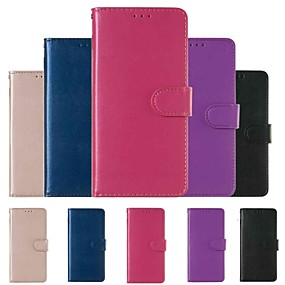 halpa Galaxy S -sarjan kotelot / kuoret-Etui Käyttötarkoitus Samsung Galaxy S9 Plus / S8 Lomapkko / Korttikotelo / Iskunkestävä Suojakuori Yhtenäinen Kova PU-nahka varten S9 / S9 Plus / S8 Plus
