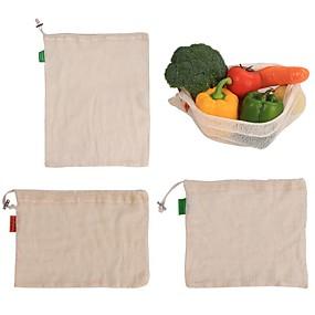 ieftine Ustensile Bucătărie & Gadget-uri-1pcs bombe de bumbac reutilizabile de uz casnic bucătărie de fructe și legume pungi de stocare cu ochiuri cu șnur cu mașina lavabile