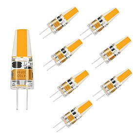 abordables Luces LED de Doble Pin-8 unids led g4 bombilla 12 v 220 v cob led 1.5 w reemplazar 10 w lámpara halógena lámpara de araña sala de estar decoración del hogar habitación de los niños blanco cálido / blanco