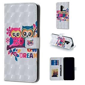 voordelige Galaxy S7 Edge Hoesjes / covers-hoesje Voor Samsung Galaxy S9 / S9 Plus / S8 Plus Portemonnee / Kaarthouder / met standaard Volledig hoesje dier / Cartoon Hard PU-nahka