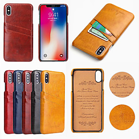 abordables Coques d'iPhone-étui fierre shann pour apple iphone xr xs max porte-carte couverture solide en cuir PU dur coloré x x 7 7 plus 8 8 plus