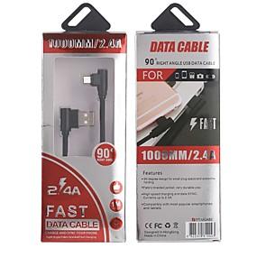 levne Google-Typ C Zasilacz / Kabel 1,0 m (3 stopy) Pletený / Rychlé nabíjení hliník Adaptér kabelu USB Pro Samsung / Huawei / LG