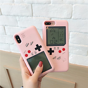 olcso iPhone tokok-CISIC Case Kompatibilitás Apple iPhone X / iPhone XR Játéktok Fekete tok Egyszínű / Mértani formák Kemény PC mert iPhone XS / iPhone XR / iPhone XS Max
