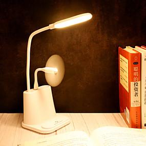 ieftine Accesorii Universale Mobile-1pc multifuncțional touch usb penholder lampă de birou student desktop birou dormitor perceput lampă de citit condus ochi protector desktop lampă ventilator