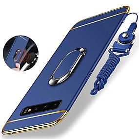 voordelige Galaxy S7 Hoesjes / covers-hoesje Voor Samsung Galaxy S9 / S9 Plus / S8 Plus Schokbestendig / Beplating / Ringhouder Achterkant Effen Hard PC / Metaal
