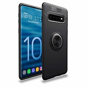voordelige Galaxy S7 Hoesjes / covers-hoesje Voor Samsung Galaxy S9 / S9 Plus / S8 Plus Ringhouder Achterkant Effen Zacht TPU