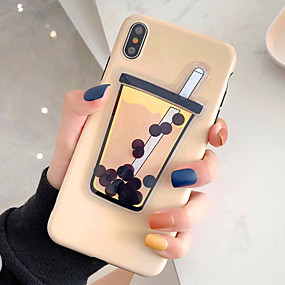 abordables Coques d'iPhone-Coque Pour Apple iPhone XS Max / iPhone 6 Liquide / Squishy Coque Nourriture / Bande dessinée Flexible TPU pour iPhone XS / iPhone XR / iPhone XS Max
