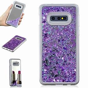 voordelige Galaxy S7 Edge Hoesjes / covers-hoesje Voor Samsung Galaxy S9 / S9 Plus / S8 Plus Schokbestendig / Stromende vloeistof / Spiegel Achterkant Glitterglans / Kleurgradatie Hard TPU
