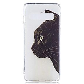 voordelige Galaxy S7 Hoesjes / covers-hoesje Voor Samsung Galaxy S9 / S9 Plus / S8 Plus Transparant / Patroon Achterkant Kat Zacht TPU