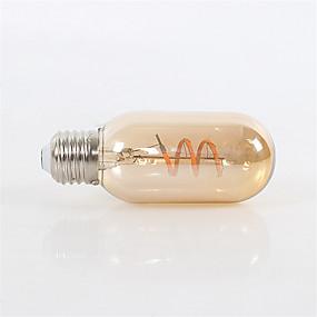 Χαμηλού Κόστους Λαμπτήρες LED με νήμα πυράκτωσης-1pc 4 W LED Λάμπες Πυράκτωσης 360 lm E26 / E27 T45 1 LED χάντρες COB Με ροοστάτη Διακοσμητικό Μαλακό νήμα Θερμό Λευκό 220-240 V