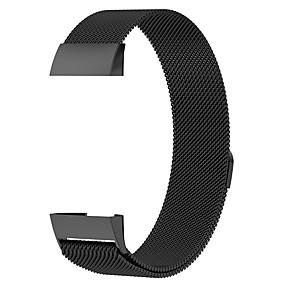 economico Cinturini per Fitbit-Cinturino per orologio  per Fitbit Charge 3 Fitbit Cinturino a maglia milanese Acciaio inossidabile Custodia con cinturino a strappo