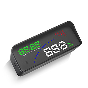 voordelige Auto-elektronica-p9 auto hud head-up display obd slim digitaal meter hd-projectorscherm voor de meeste auto's