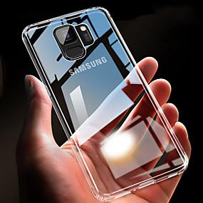 voordelige Galaxy S7 Hoesjes / covers-hoesje Voor Samsung Galaxy S9 / S9 Plus / S8 Plus Ultradun / Transparant Achterkant Effen Zacht TPU