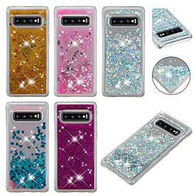 voordelige Galaxy S7 Hoesjes / covers-hoesje Voor Samsung Galaxy S9 / S9 Plus / S8 Plus Stromende vloeistof / Glitterglans Achterkant Glitterglans Zacht TPU