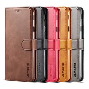 voordelige Galaxy S6 Edge Plus Hoesjes / covers-flip cover portemonnee hoesje voor Samsung Galaxy S9 plus s10 plus mode unisex student zakelijke lederen telefoon beschermhoes s9 s10 s10e s10plus note9 opmerking8 s8 s8 plus s7 s7 rand s6 s6 rand