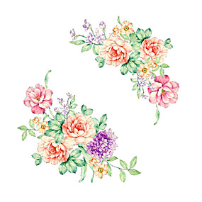 cheap Decoration Stickers-Fridge Stickers - Plane Wall Stickers Floral / Botanical Bathroom / Indoor
