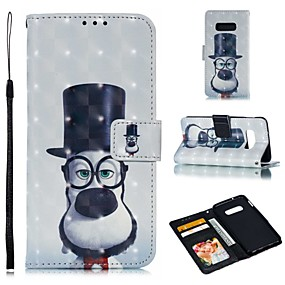 voordelige Galaxy S7 Hoesjes / covers-hoesje Voor Samsung Galaxy S9 / S9 Plus / S8 Plus Portemonnee / Kaarthouder / Schokbestendig Volledig hoesje Hond Hard PU-nahka