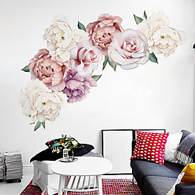 povoljno Ukrasne naljepnice-lijepa cvijet božura zid naljepnice - riječi& amp; citati zid naljepnice znakova studija soba / ured / blagovaonica / kuhinja