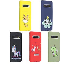 halpa Galaxy S9 Plus kotelot / kuoret-Etui Käyttötarkoitus Samsung Galaxy Galaxy S10 Plus / Galaxy S10 E Himmeä / Kuvio Takakuori Eläin / Piirretty Pehmeä TPU varten S9 / S9 Plus / S8 Plus