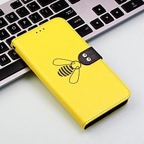 levne iPhone pouzdra-Carcasă Pro Apple iPhone XR / iPhone XS Max Peněženka / Pouzdro na karty / Nárazuvzdorné Celý kryt Kachlička / Zvíře Pevné PU kůže pro iPhone XS / iPhone XR / iPhone XS Max