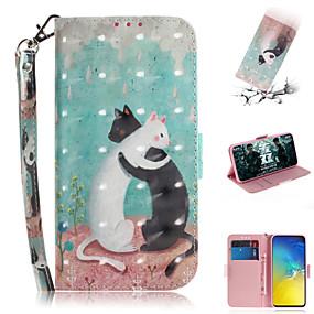 voordelige Galaxy S7 Edge Hoesjes / covers-hoesje Voor Samsung Galaxy S7 edge / S7 / Galaxy S10 Portemonnee / Kaarthouder / met standaard Volledig hoesje dier / 3D Cartoon PU-nahka