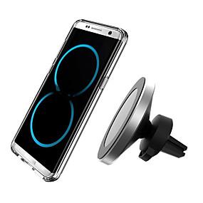 voordelige Autoladers-360 graden rotatie auto draadloze oplader voor iphone xsmax / xs / xr / 8 plus qi magnetische draadloze autolader voor samsung s10 / s9 / s8 10w