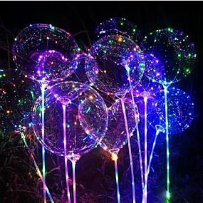 ieftine Casă & Grădină-3m 30ml lanț șir luminos condus baloane transparente heliu baloane fericit ziua de nastere decoratiuni copii nunta condus baloane Crăciun noul an