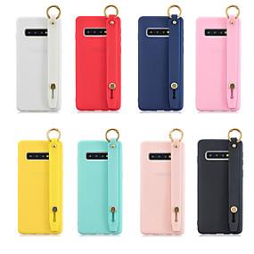 voordelige Galaxy S7 Edge Hoesjes / covers-hoesje Voor Samsung Galaxy S9 / S9 Plus / S8 Plus met standaard / Mat Achterkant Effen TPU