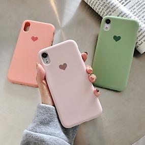 levne Pouzdra iPhone XS-Carcasă Pro Apple iPhone XS Max / iPhone 6 Vzor Zadní kryt Srdce Měkké Silica gel pro iPhone XS / iPhone XR / iPhone XS Max