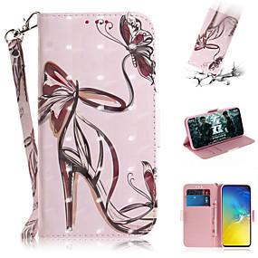 voordelige Galaxy S7 Edge Hoesjes / covers-hoesje Voor Samsung Galaxy S7 edge / S7 / Galaxy S10 Portemonnee / Kaarthouder / met standaard Volledig hoesje Sexy dame PU-nahka
