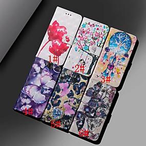 voordelige Galaxy A5(2016) Hoesjes / covers-hoesje Voor Samsung Galaxy A6 (2018) / A6+ (2018) / Galaxy A7(2018) Portemonnee / Kaarthouder / Schokbestendig Volledig hoesje Vlinder / Bloem Hard PU-nahka