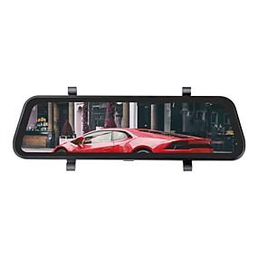 voordelige Auto DVR's-ziqiao h19 1296p streaming media achteruitkijkspiegel dash cam registrar video recorder 9.66 inch ips nachtzicht achteruitrijcamera auto dvr camera