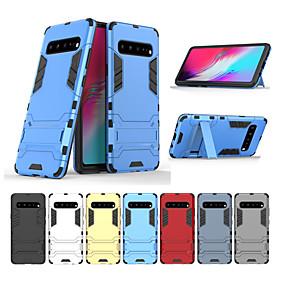 voordelige Galaxy S7 Hoesjes / covers-hoesje voor samsung galaxy s10 s10 plus schokbestendig met standaard volledige behuizingen armor tpu pc s10e s9 s9 plus s8 s8 plus s7 s7 edge