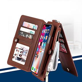 Недорогие Чехлы и кейсы для Galaxy S8-чехол для телефона сальто musubo для apple iphone 7 plus / iphone 8 plus / iphone xs / iphone x / iphone 6 / 6s / iphone xr / iphone xs max многофункциональный бумажник съемная оболочка для iphone 5 /