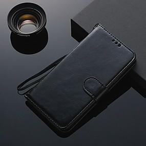 voordelige Galaxy A8 Hoesjes / covers-hoesje Voor Samsung Galaxy A6 (2018) / A7 (2017) / A8 Kaarthouder / Flip / Magnetisch Volledig hoesje Effen TPU