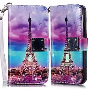 voordelige Galaxy S7 Edge Hoesjes / covers-hoesje Voor Samsung Galaxy S9 / S9 Plus / S8 Plus Portemonnee / Kaarthouder / met standaard Volledig hoesje Landschap PU-nahka