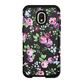voordelige Galaxy J3 Hoesjes / covers-hoesje Voor Samsung Galaxy J3 / Galaxy J3 Prime / Galaxy J3 Pro (2017) Schokbestendig Achterkant Landschap / Bloem PC