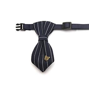 voordelige Honden Sieraden & Accessoires-Kat Hond Stropdas / Vlinderdas Hondenkleding Zwart Nylon Kostuum Voor Lente & Herfst Bruiloft