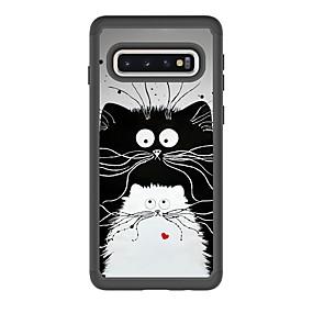voordelige Galaxy S7 Hoesjes / covers-hoesje Voor Samsung Galaxy S9 / S9 Plus / S8 Plus Schokbestendig / Patroon Achterkant Kat PU-nahka