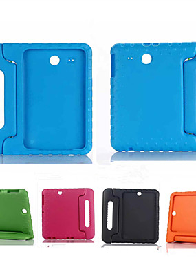 cheap Samsung Tab Series Cases / Covers-Case For Samsung Galaxy Samsung Galaxy Case Shockproof / with Stand / Child Safe Full Body Cases Solid Colored Silicone for Tab E 9.6