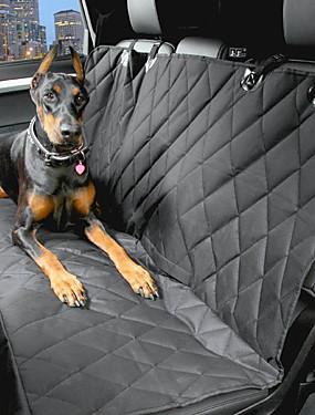 رخيصةأون مستلزمات الحيوانات الأليفة-كلب سيارة مقعد الغطاء حيوانات أليفة حاملات مقاوم للماء المحمول أسود