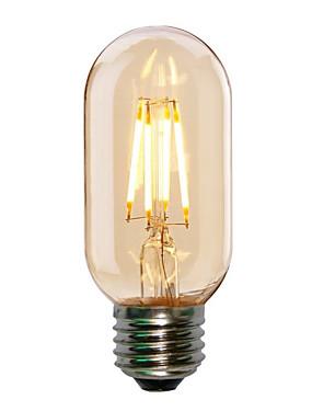 رخيصةأون مصابيح خيط ليد-HRY 1PC 4W 360lm E26 / E27 مصابيحLED T45 4 الخرز LED COB ديكور أبيض دافئ أبيض كول 220-240V